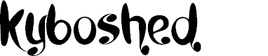Preview image for Kyboshed Font