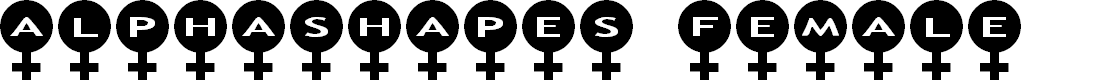 Preview image for AlphaShapes female Font