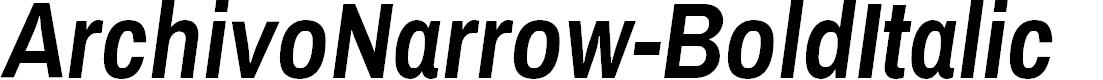 Preview image for ArchivoNarrow-BoldItalic
