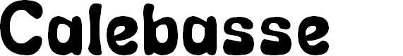 Preview image for Calebasse (Unregistered) Font