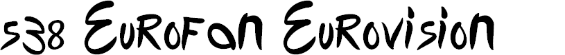 Preview image for 538 Eurofan Eurovision Font