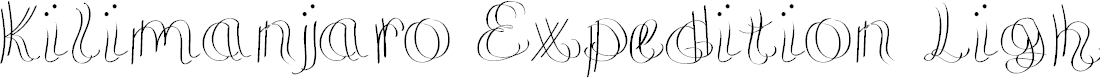 Preview image for KilimanjaroExpeditionLight Font