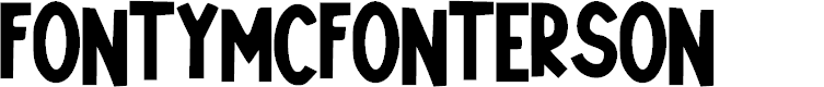 Preview image for Fonty_McFonterson Font