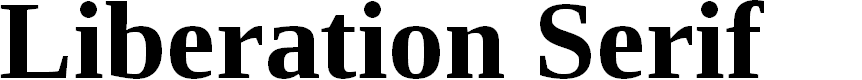 Preview image for Liberation Serif Bold