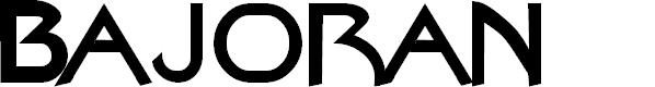 Preview image for Bajoran Regular Font