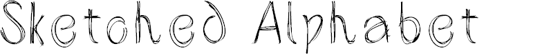 Preview image for SketchedAlphabet Font