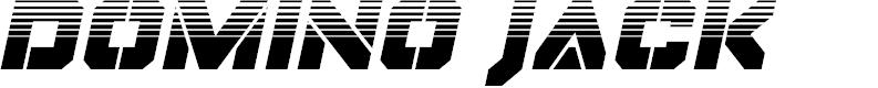 Preview image for Domino Jack Halftone Italic Italic