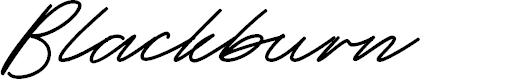 Preview image for Blackburn Font