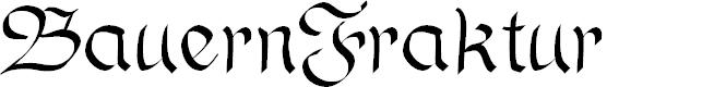 Preview image for BauernFraktur Font