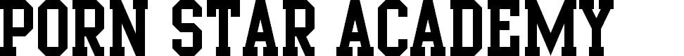 Preview image for Porn Star Academy Font