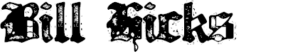 Preview image for Bill Hicks 5 Font