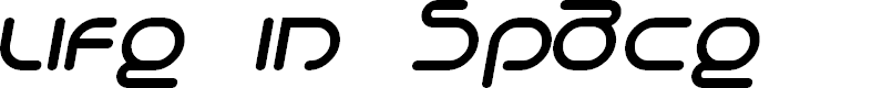 Preview image for Life in Space Italic