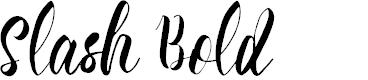 Preview image for Slash Bold Font