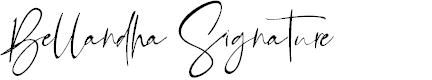 Preview image for Bellandha Signature Font