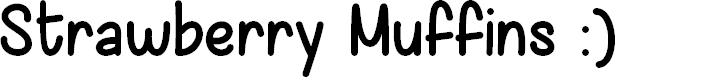 Preview image for Strawberry Muffins Demo Font