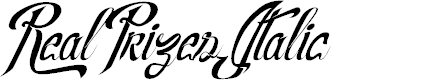 Preview image for RealPrizesItalic Font