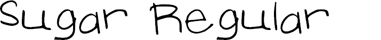Preview image for Sugar Regular Font
