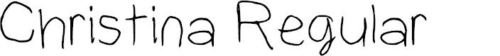 Preview image for Christina Regular Font
