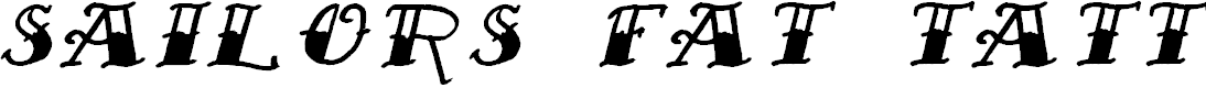 Preview image for Sailor's Fat Tattoo Script Italic Demo