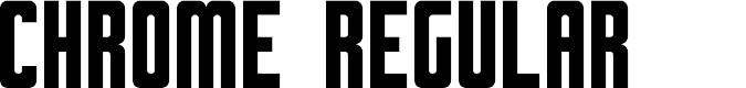 Preview image for Chrome Regular Font