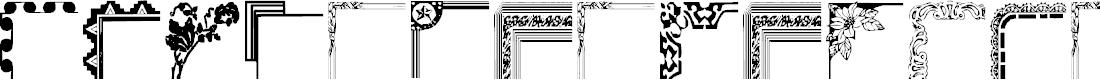 Preview image for Vintage Decorative Corner_44 Font