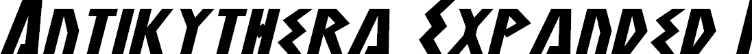 Preview image for Antikythera Expanded Italic