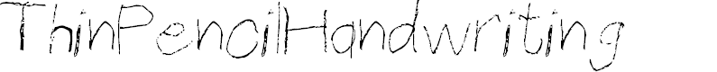 Preview image for ThinPencilHandwriting Font