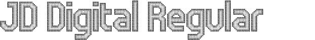 Preview image for JD Digital Regular Font