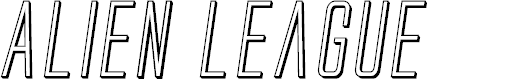 Preview image for Alien League II 3D Italic