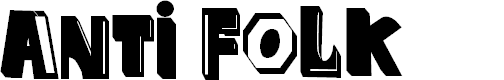 Preview image for anti folk Font