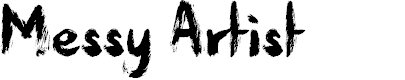 Preview image for Messy Artist Font
