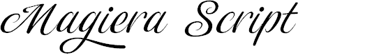 Preview image for Magiera Script Font