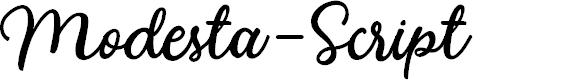 Preview image for Modesta-Script Font