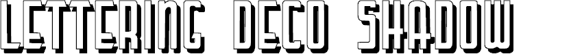 Preview image for LetteringDecoShadow Font
