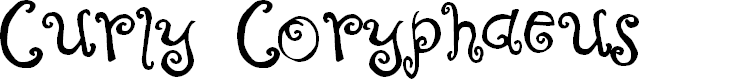 Preview image for Curly Coryphaeus Font