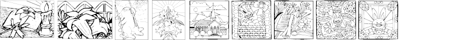 Preview image for KR Easter Squares Font
