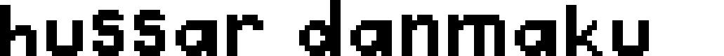 Preview image for Hussar Danmaku Font