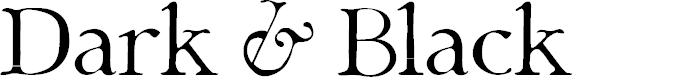 Preview image for Dark & Black Font