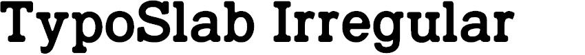 Preview image for TypoSlab Irregular Demo