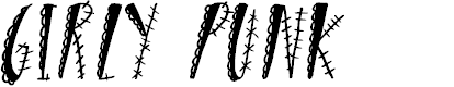 Preview image for Girly Punk Font