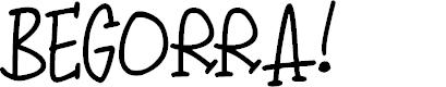 Preview image for Begorra Font