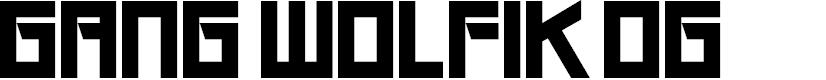 Preview image for Gang Wolfik OG Font