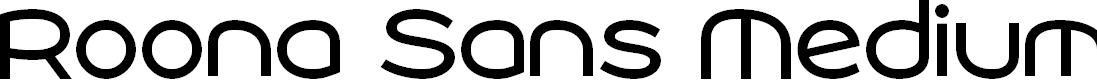 Preview image for Roona Sans Medium PERSONAL