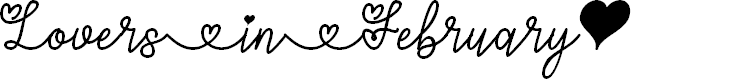 Preview image for Lovers in February Font