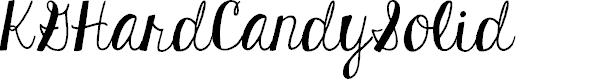 Preview image for KGHardCandySolid Font