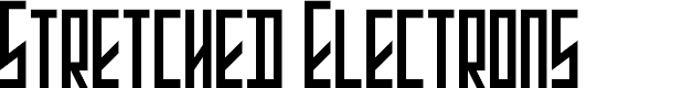 Preview image for Stretched Electrons Font