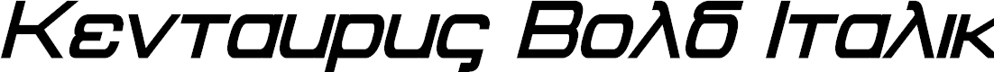 Preview image for Kentaurus Bold Italic