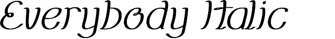 Preview image for Everybody Italic