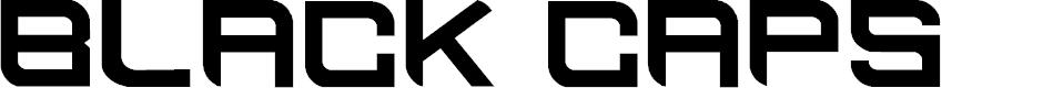 Preview image for BLACK CAPS Regular Font