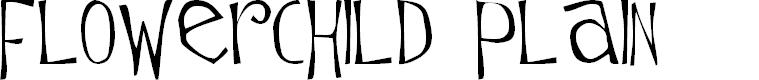Preview image for Flowerchild Plain Font